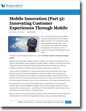 Mobile Innovation Strategy #4: Innovating Customer Experiences