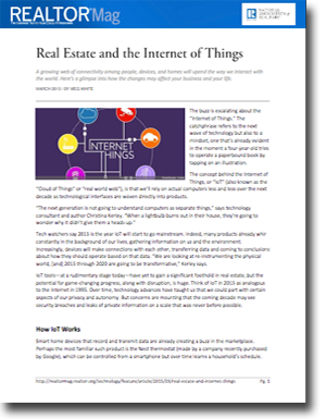 Real Estate and the Internet of Things