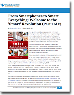 "From Smartphones To Smart Everything: The ""Smart"" Revolution (IoT)"